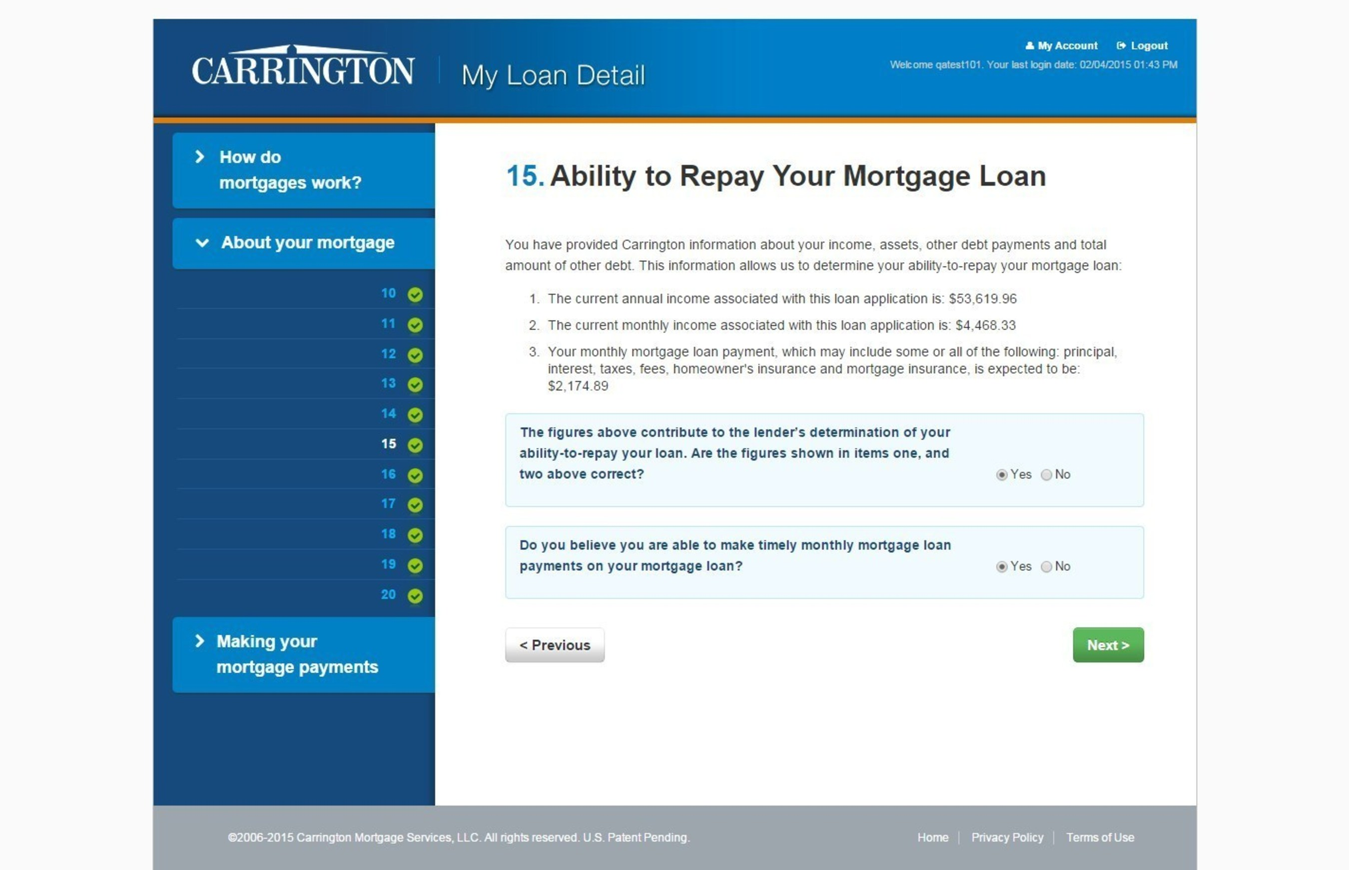 Carrington Mortgage Loan Payment